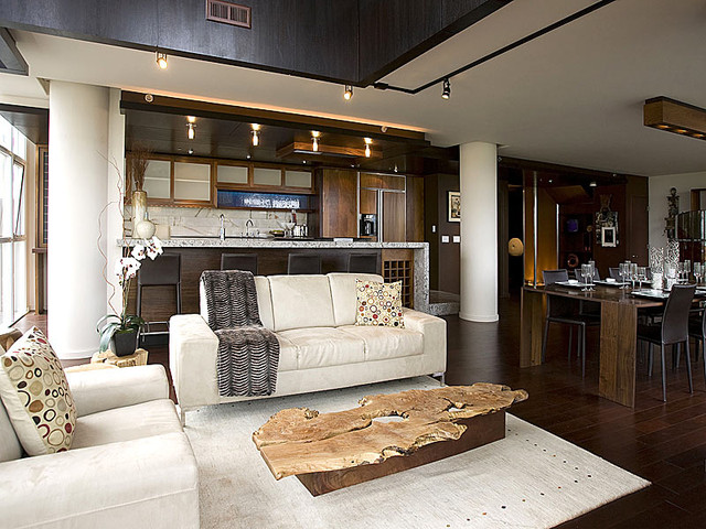 Contemporary Penthouse Loft Interior, Portland, Oregon contemporary living room
