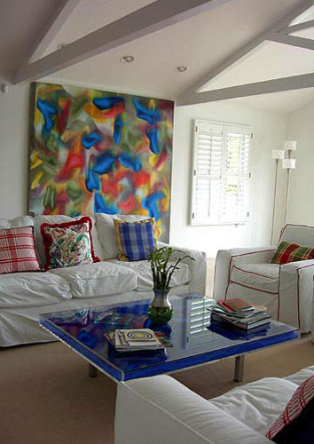 Contemporary Pop Art Contemporary Living Room