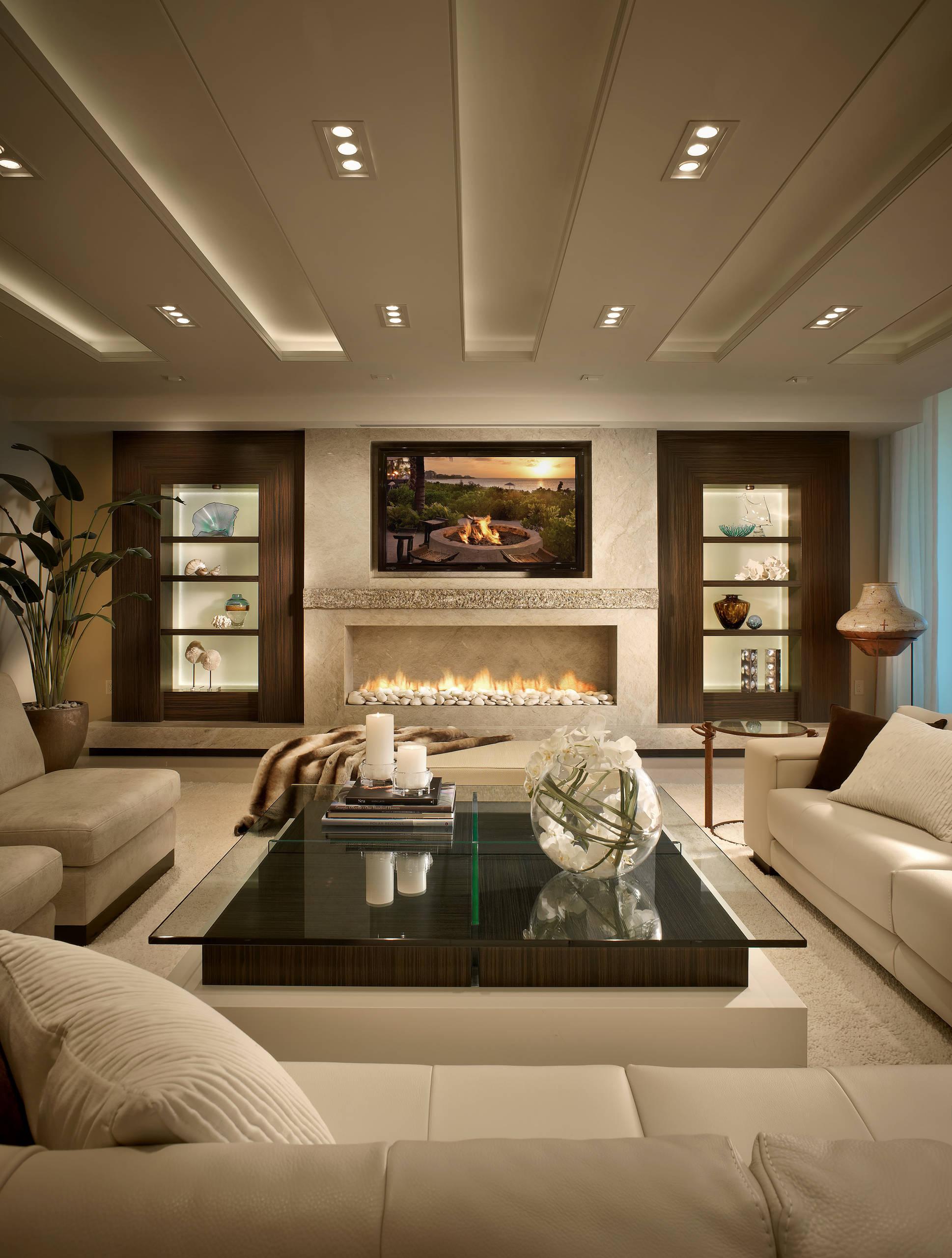 modern brown living room decor