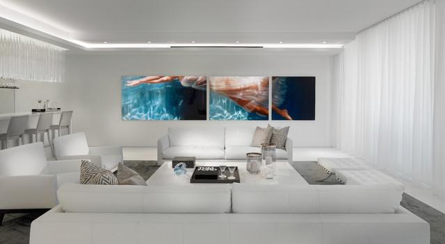 Contemporary Residence Boca Raton Florida Contemporary Living Room Miami By Interiors