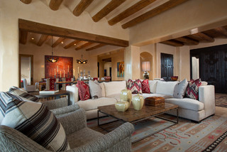 Contemporary Rustic Home In Santa Fe   Southwestern   Living Room    Albuquerque   By Samuel Design Group