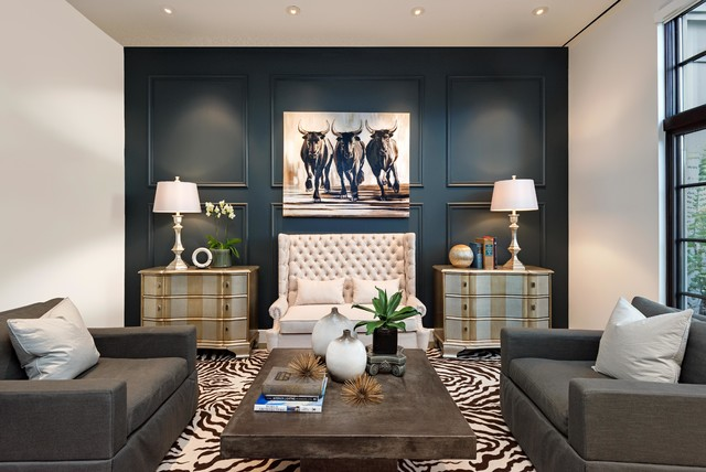 Contemporary Sitting Room, Foyer and buffet - Transitional - Living ...