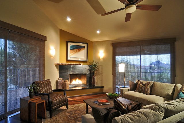 Living Spaces Az : Contemporary Southwest Living Room Remodel - Fountain ...