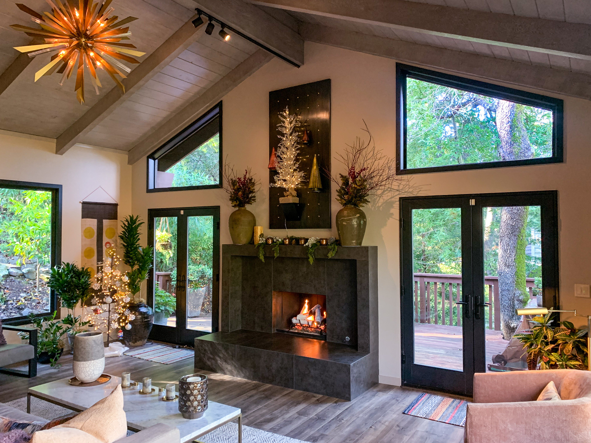 Contemporary Treehouse Living Room