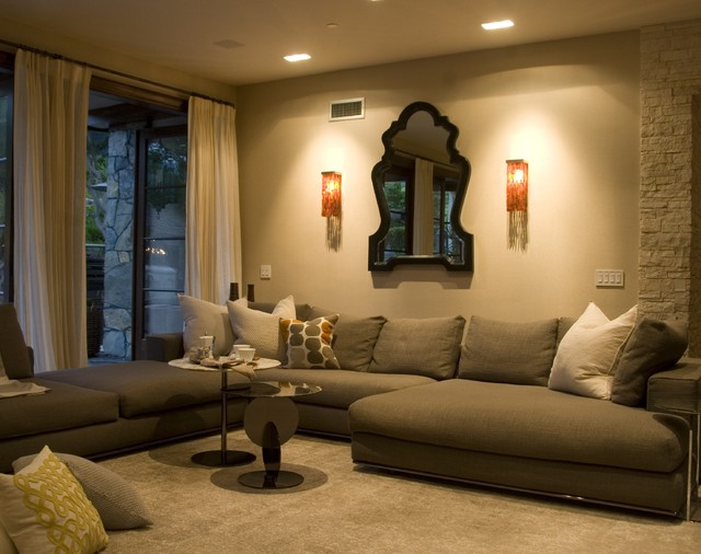 Contemporary tuscan contemporary living room los for Interior design gallery