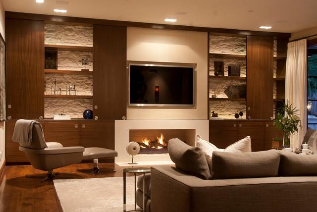 Contemporary Tuscan Contemporary Living Room