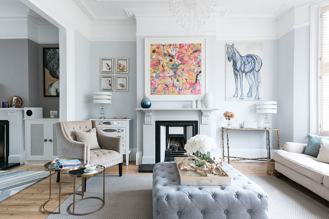 Contemporary Update Of Stunning Period Home Transitional Living Room