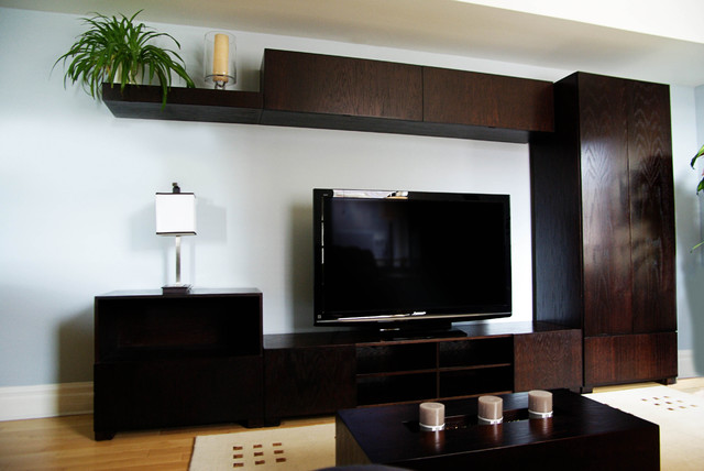 Contemporary wall unit integrated bar contemporary for Modern wall bar unit