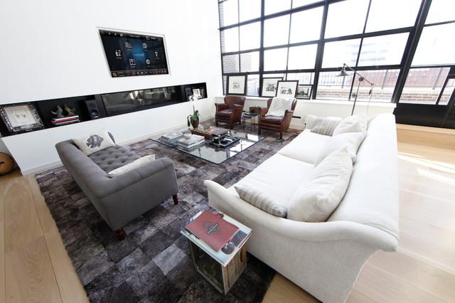 Control4 contemporary-living-room