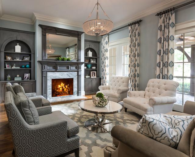 Lauren nicole designs · interior designers decorators conversational living roo traditional living room