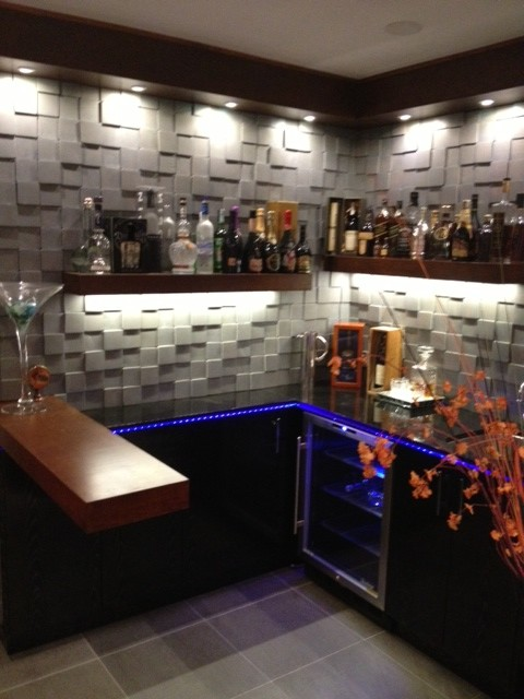 Cool design for small bar contemporary living room - Small space room ideas ...