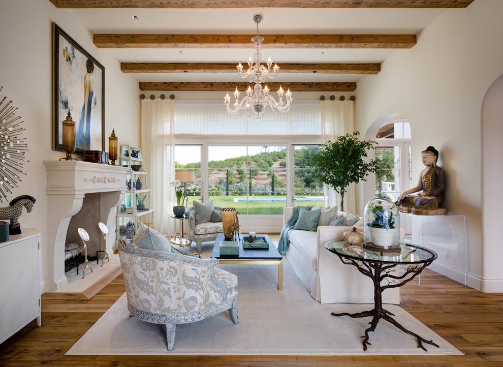 Cooler Tones Living Room Interior Design in Rancho Santa ...