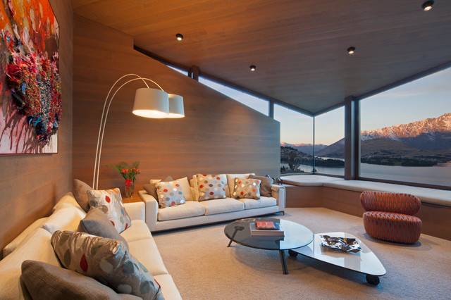 Good Copper House   Queenstown Contemporary Living Room Idea