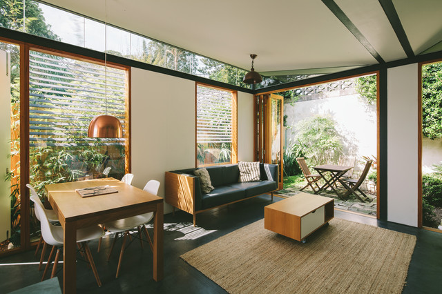 Houzz Tour Old Fibro Beach Shack Reborn As Copper Clad