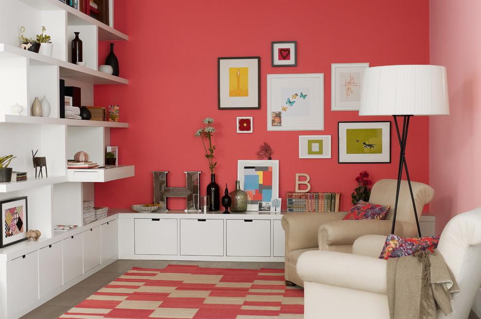 Living room - contemporary living room idea in Berkshire