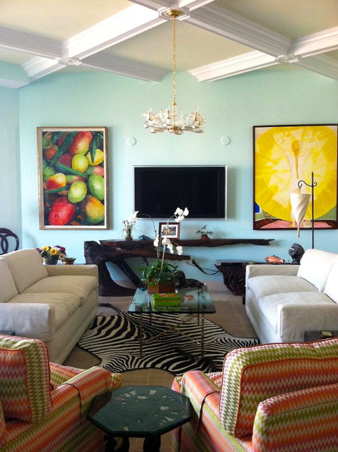 Coral Gables Residence eclectic-living-room