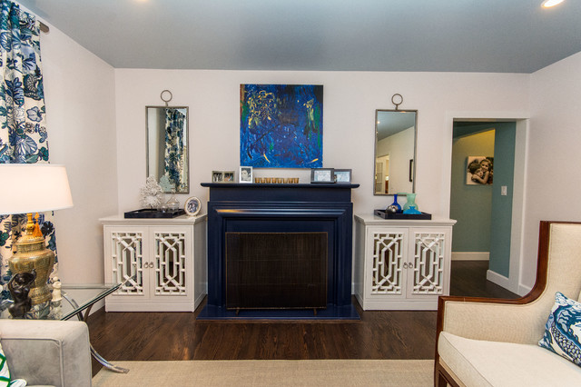 Coral Gables Whole House Remodel eclectic-living-room