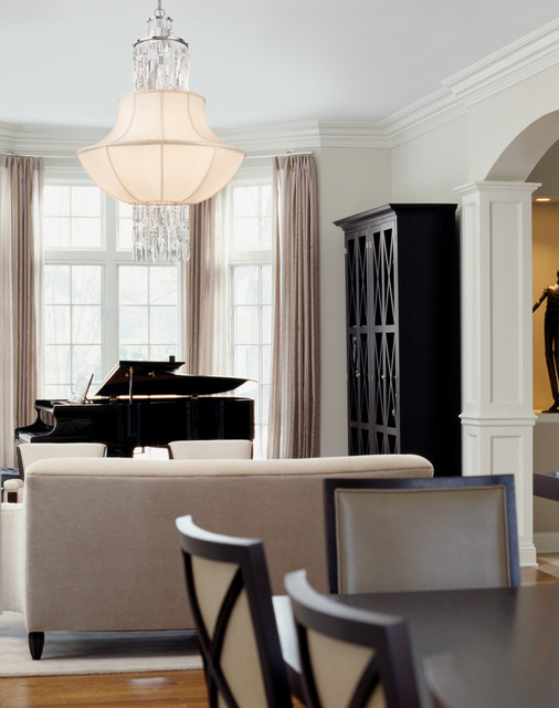 Corbett lighting traditional living room miami by for Baby grand piano in living room