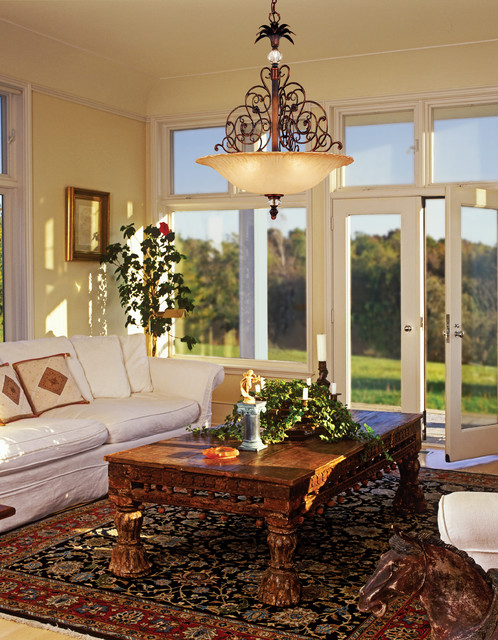Corbett Lighting traditional living room