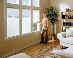 Cordless Top Down Bottom Up Shades (Duofold) contemporary-living-room