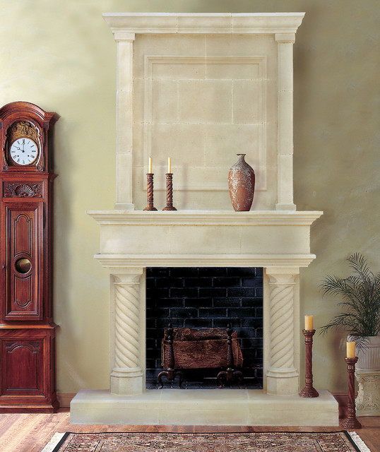 cordova cast stone fireplace mantel with overmantel 5