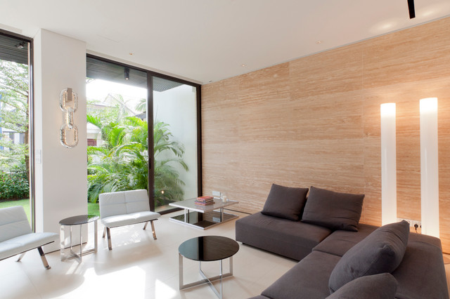 Corner Terrace House @ Bloxhome Drive - Singapore modern-living-room