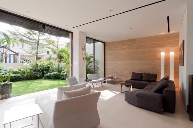 Corner Terrace House @ Bloxhome Drive - Singapore modern-living-room