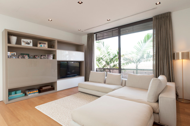 Living room decoration with tv cabinets singapore best for Terrace house singapore