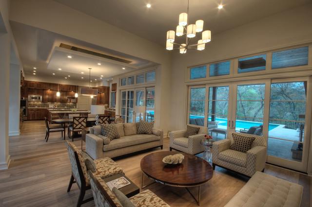 Cortona Living Contemporary Living Room Austin By Cornerstone Architects