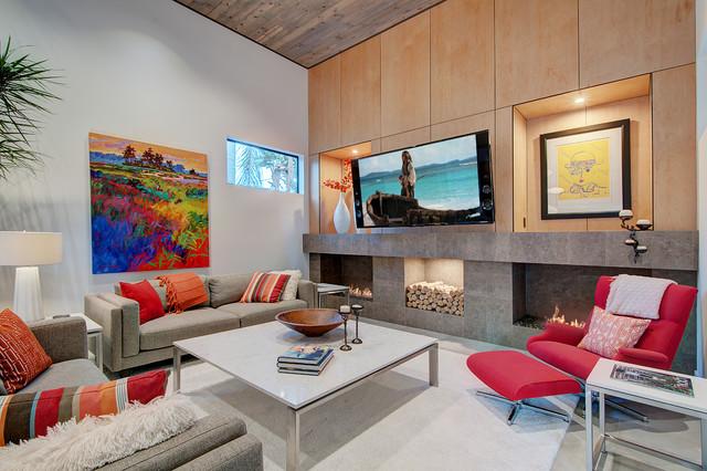 Costa Mesa Custom Home Contemporary Living Room Part 67