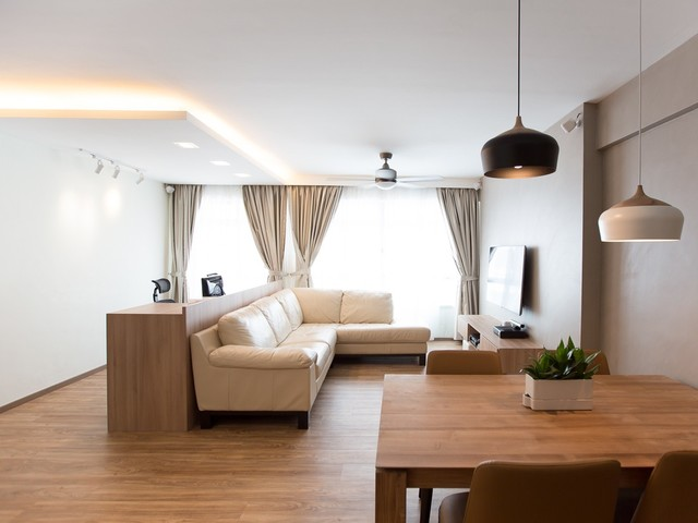 Costa Ris 5 Room HDB - Scandinavian - Living Room - Singapore - by ...