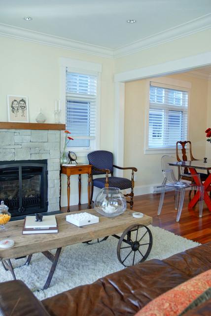 Cosy yet Contemporary Family Home in Kitsilano living-room
