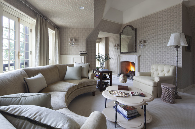 Cotswolds Manor traditional-living-room & Cotswolds Manor - Traditional - Living Room - Chicago - by bba ...