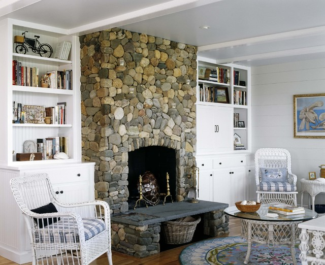 Cottage Beach Style Living Room Boston By CBRD
