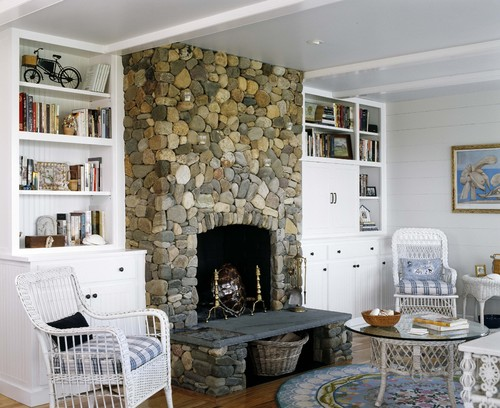 why built in cabinets work flanking a fireplace