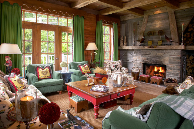 Cottage / Chalet - Rustic - Living Room - Montreal - by LBGB / LA ...