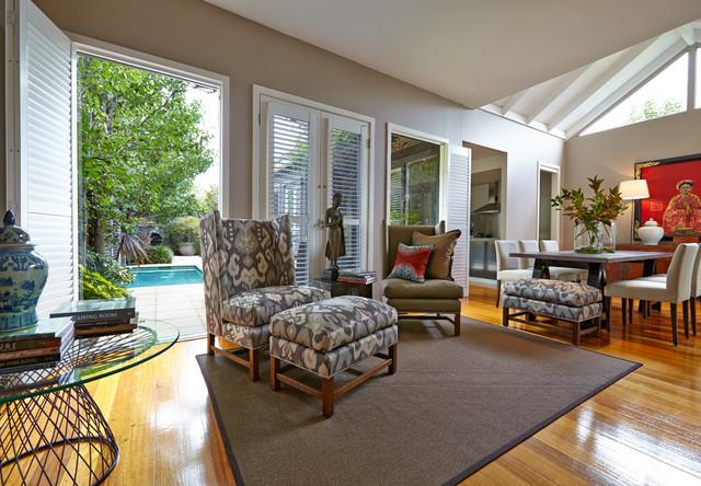 Cottage Contemporary Living Room Melbourne By Patrick Meneguzzi Interiors