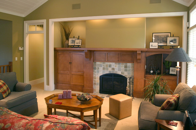 Cottage Style Home traditional-living-room