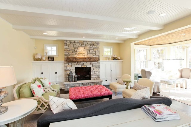 Cottage Style Living Room - Traditional - Living Room ...