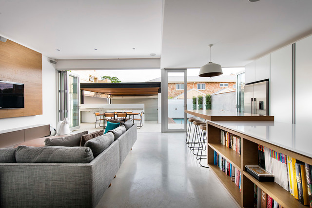 Cottesloe Renovation Contemporary Living Room Perth