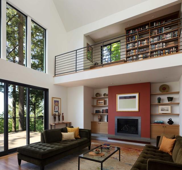 Council Crest Portland Remodel Contemporary Living Room Portland By Jenni Leasia Interior Design Houzz Uk