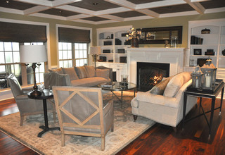 Country Estate Traditional Living Room Raleigh By