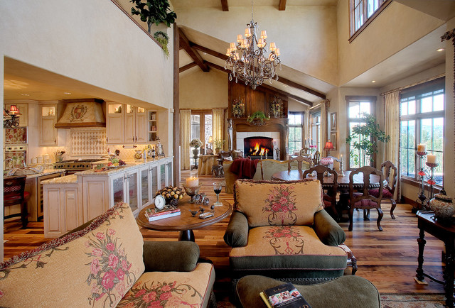 Country French Cottage - Traditional - Living Room - Salt ...