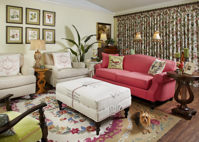 Country French Cottage - Living Room 1 - Traditional - Living Room ...