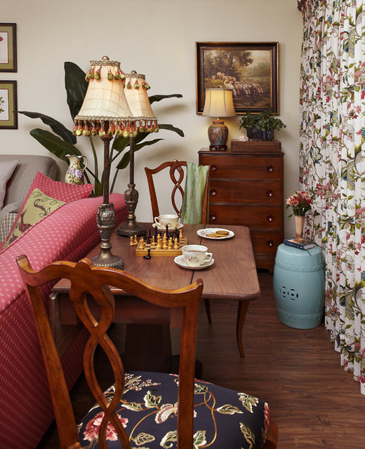 Country French Cottage - Living Room 2 - Traditional ...