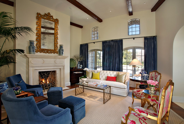 Country french eclectic traditional living room by for Traditional eclectic living rooms