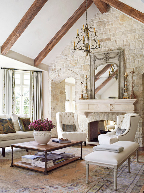 Country French Magazine - French Country - Living Room ...