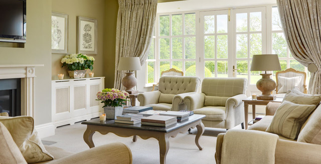 country house ireland traditional living room
