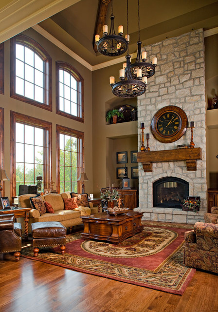 Country living today traditional living room kansas Two story living room decorating ideas
