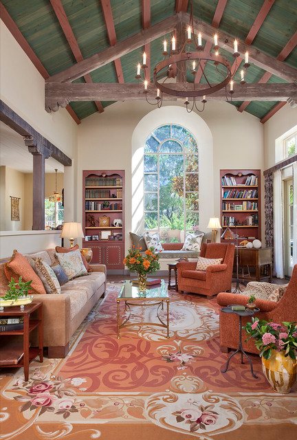 Country Ranch mediterranean-living-room